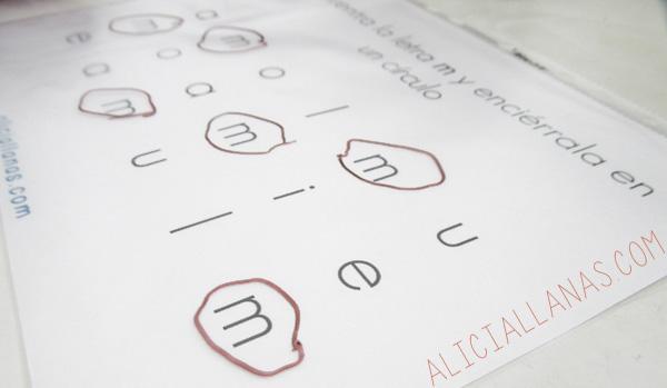 Actividades para la LETRA M - Alicia Llanas