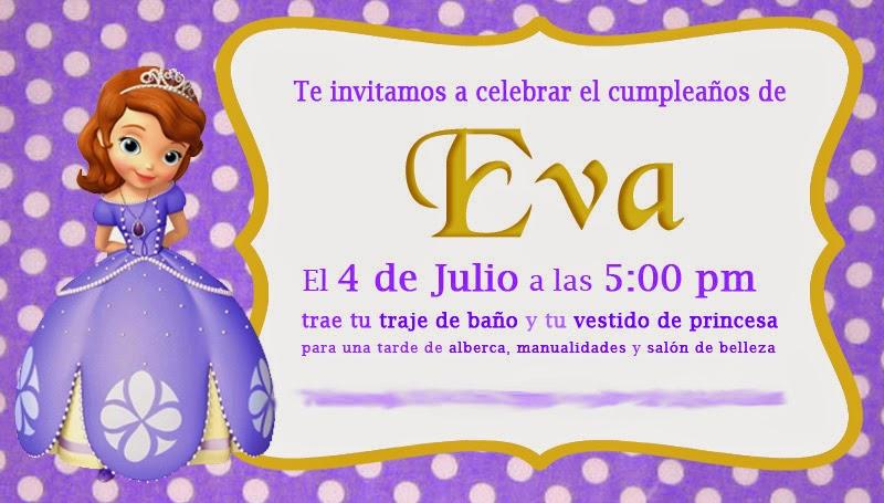 Ideas Para Una Fiesta De Princesita Sofia Alicia Llanas