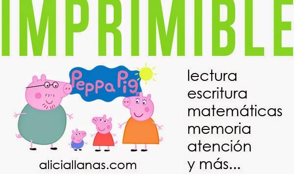 Actividades para imprimir de Peppa Pig - Alicia Llanas