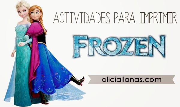 Actividades para imprimir de Frozen - Alicia Llanas