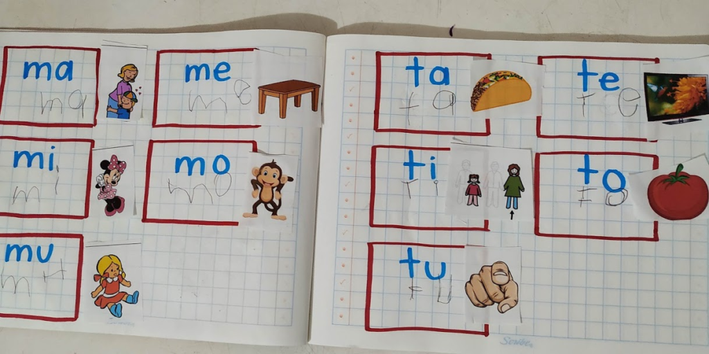 escritura niña con sindrome de down